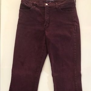 NYDJ Bootcut Jeans,Burgundy, Size-12. Made in USA